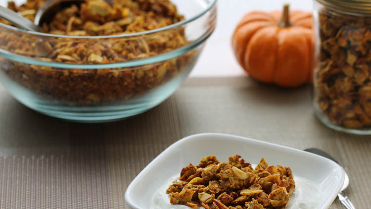 Pumpkin Granola made with BiPro Whey Protein Isolate