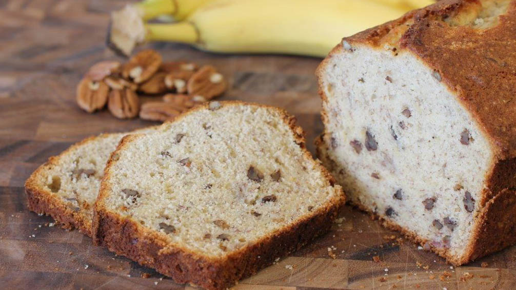 Banana bread recipe made with BiPro Whey Protein