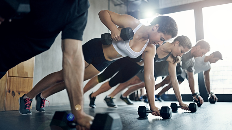 group workout images