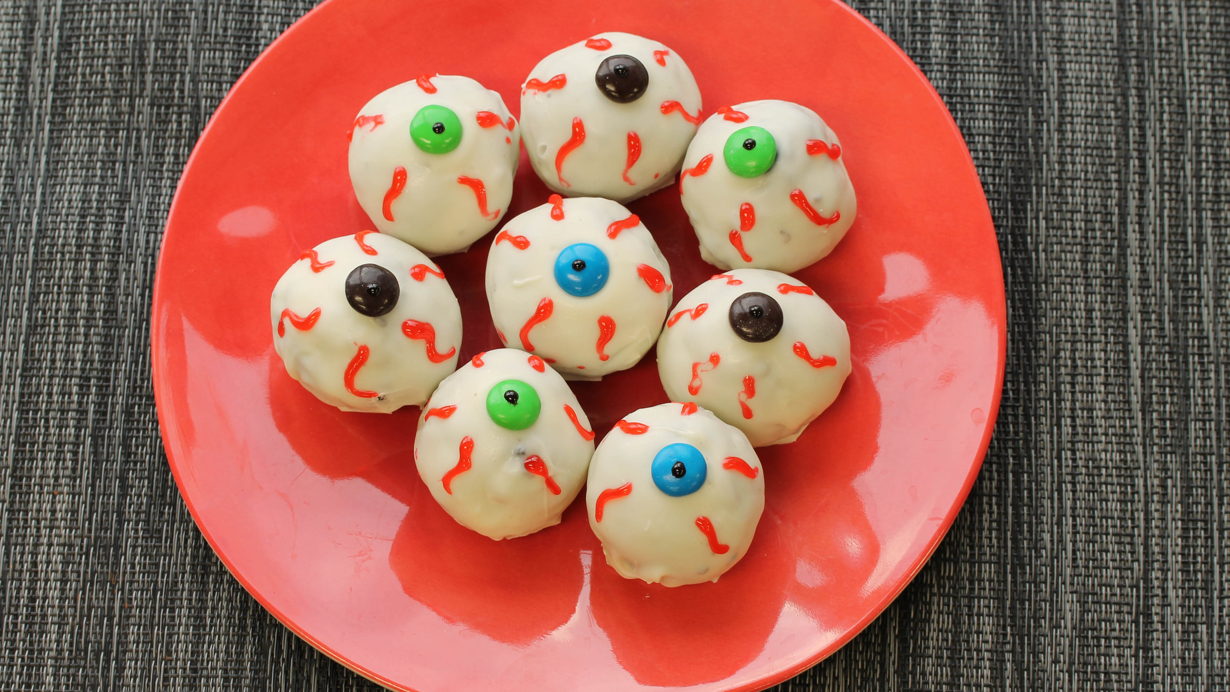 Chocolate Sandwich Eyeball Cookies made with BiPro Whey Protein Powder