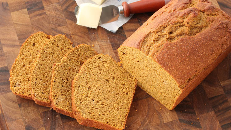 pumpkin bread made with BiPro Isolate