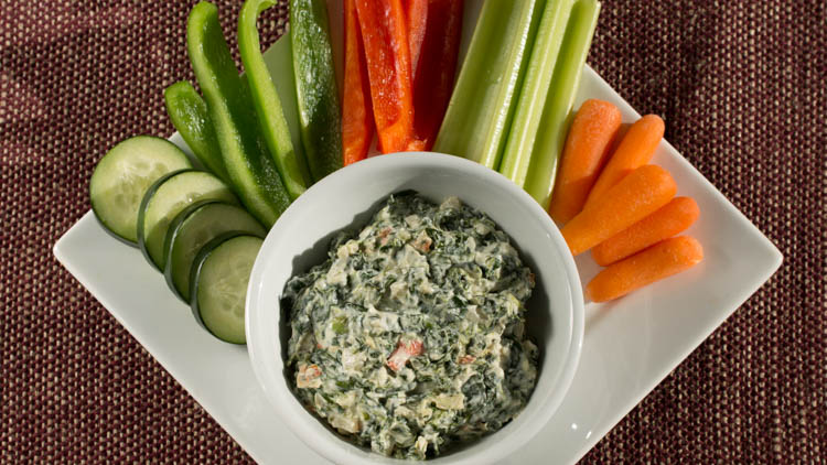 SPINACH DIP WITH PROTEIN made with BiPro Whey Protein