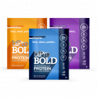 BiPro Bold Single-Serve Pouch Boldly Bare, Creamy Vanilla, chocolate milkshake
