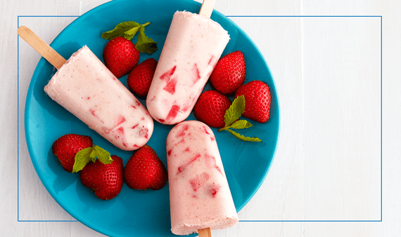 Strawberry Yogurt Pops
